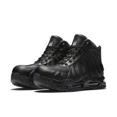 new style 00169 80df4 Nike Air Foamdome   843749-002   Men Boot Foamposite Leather Triple Black -  FS