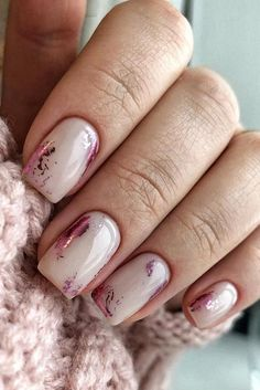 The Most Easy and Beautiful Colors Nail Art Designs for Summ.- The Most Easy and Beautiful Colors Nail Art Designs for Summer Diy Nagellack, Nagellack Trends, Cute Nails, Pretty Nails, My Nails, Pink Nails, Yellow Nails, Winter Nails, Summer Nails