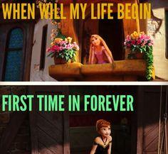 Frozen / Tangled crossover - Princess Rapunzel & Princess Anna - Optimistic dreamers