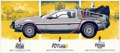 Back to the Future! A Mondo contratou a  Phantom City Creative para lançar os novos posters dessa temporada. Eles fizeram um trabalho incrível, com 3 posters que quando enquadrado em conjunto, formam o famoso DeLorean, o carro famosissímo da saga De volta para o Futuro. Os cartazes tem medidas aproximadas de 45cm x 54 cm. O preço é salgadinho $120 dollares.