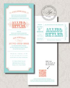 Wedding Invitation Blog: QR Code on Wedding Invitations