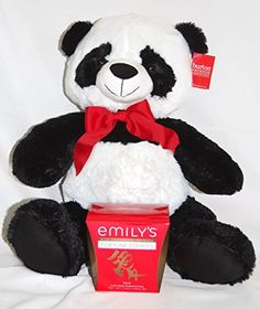 Valentines Day Panda Bear Stuffed Animal Large 22 with BONUS Emilys Chocola * Click image to review more details.