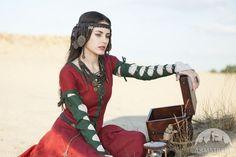 "Like the sleeves.  Fantasy linen dress ""The Alchemist's daughter"""