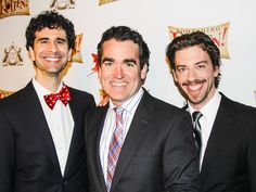 John Cariani, Brian d'Arcy James and Christian Borle on opening night of SOMETHING ROTTEN!