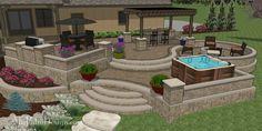 Custom terraced patio designs - custom designs starting at 350