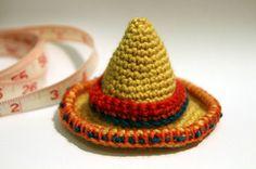Amigurumi sombrero hat (photo only)
