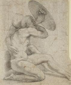 Raphael Crouching Figures c. 1513-14