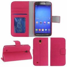 For Samsung Galaxy S4 Active Pink Leather Wallet Case Flip Hard Cover ATT | eBay