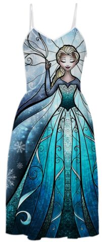 The Snow Queen Summer Dress created by mandiemanzano