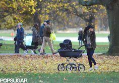 Kate Middleton Pushing Prince George in Stroller | POPSUGAR Celebrity