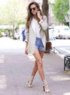 Street Style Shorts Jeans