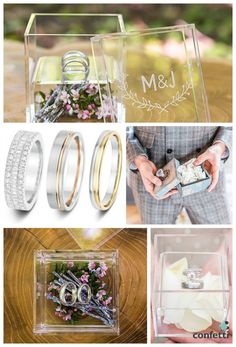 Ring boxes by Confetti