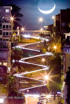 Seriously, this photo blows my mind! Lombard Street in San Francisco