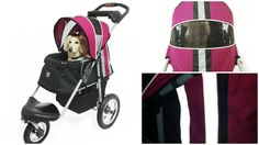 Turbo Pet Jogger with air filled tires and reflective stripes.