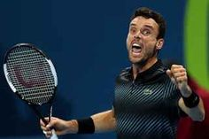 In press conference at the Qatar Exxon Mobil Open in Doha Roberto Bautista Agut analyzed his great three-set win over Novak Djokovic in the semifinals match on Friday Doha, Tennis Racket, Shanghai, The One, Good Things, Sports, 3, Tennis, Cement