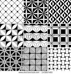 Seamless Abstract Geometric Pattern Stock Vector 143267485 : Shutterstock