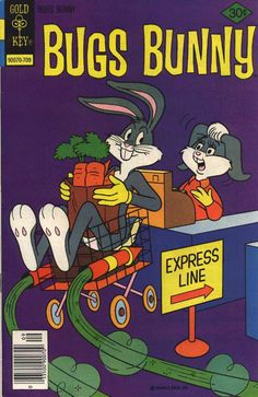 A cover of Bugs Bunny comic book #188 (1977). A rare occasion on which Honey Bunny appeared in gray version