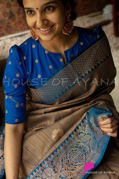 Blouse Designs Catalogue, Kids Blouse Designs, Simple Blouse Designs, Stylish Blouse Design, Saree Blouse Designs, Kerala Saree, India, Sarees Online, Silk Sarees