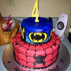 Superhero Birthday Cake!