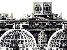 Arcology, Future Vision, Temple, Cool Designs, Fair Grounds, Architecture, Nice, Drawings, Nature