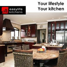 Easylife Kitchens George are the creators of custom designed kitchens and cupboards for all rooms. Visit our showroom and discuss your next kitchen with our professional staff. #designerkitchens #lifestyle #cupboards