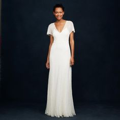 8d7abe2b8b Ivory A0368 Beaded Gown Vintage Wedding Dress