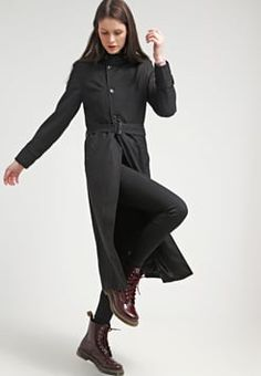 G-star raw long black trench coat.