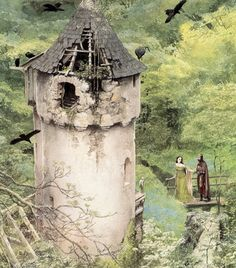 Another from Alan Lee's Castle illustrations.