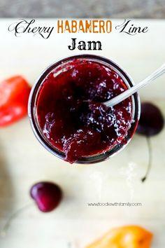 Cherry Habanero Lime Jam made with Pomona's Universal Pectin | www.foodiewithfamily.com #jam