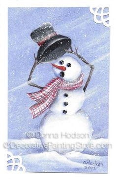 The Decorative Painting Store: Windy Snowman Pattern - Donna Hodson, Newly Added Painting Patterns / e-Patterns