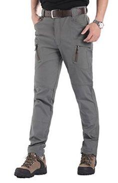 Lorata Pantalones Largos Deportivos para Hombres Contra Viento Impermeable Anti-UV Casuales al Aire Libre Senderismo Viaje