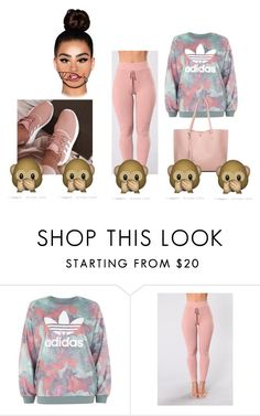 """this time😜😜👄"" by shaniyaruss4507 ❤ liked on Polyvore featuring adidas"