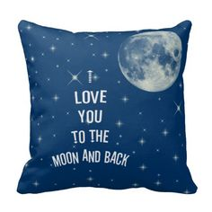 Miss Pillow Decorative 18 x 18 Inch Cotton Pillow Cover Cushion Case, I Love You To The Moon And Back Throw Pillow Pillow Fight, Pillow Talk, Just For You, Love You, Back Pillow, Cotton Pillow, Blue Moon, My Room, All The Colors