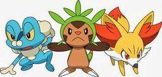 Pokémon XY Starters