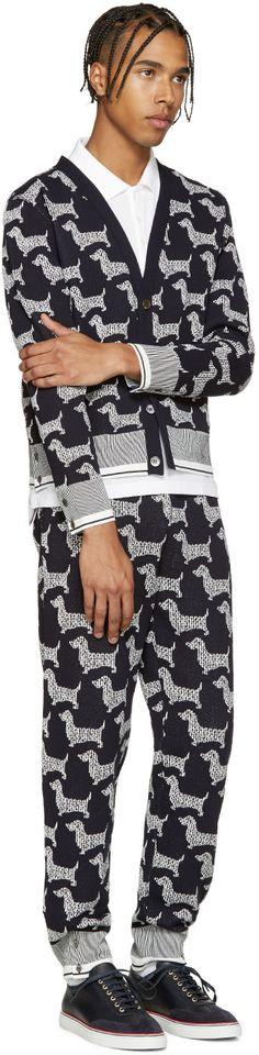 Thom Browne - Grey Hector Fair Isle Cardigan   Trends   Pinterest ...