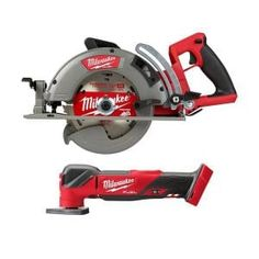 Milwaukee M18 FUEL 18-Volt 7-1/4 in. Lithium-Ion Cordless Rear Handle Circular Saw Kit with 12.0 Ah Battery and Rapid Charger-2830-21HD - The Home Depot Milwaukee Tools, Milwaukee M18, Led Work Light, Work Lights, Worm Drive Circular Saw, Rolling Tool Box, Saw Tool, Cordless Circular Saw, Cordless Tools