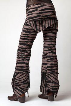 Zebra Pants - Taupe/Black [KA09C01] - $115.00 : Crystal Tara, Visionary Art T-shirts and Clothing