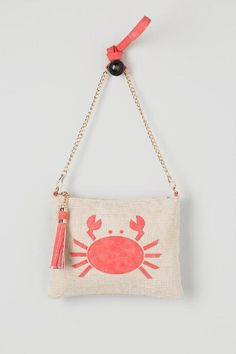 5f8bc63c36fd Crab Canvas Crossbody Clutch  24.00 Crossbody Clutch