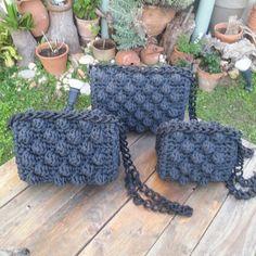 Bag Crochet, Crochet Purses, Popcorn Stitch, Crochet Winter, Knit Fashion, Knitted Bags, Crochet Designs, Handmade Bags, Crochet Projects