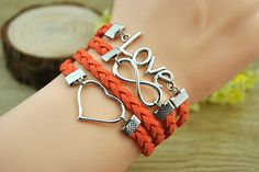 Fashion cuff braceletsilvery alloy love & by Richardwu on Etsy, $6.50