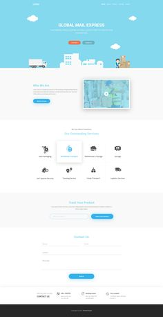 Global Mail Landing Page – Landing page by Ahmed Nayef