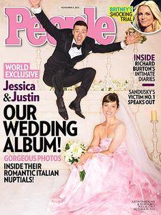 Jessica Biel, Justin Timberlake's First Wedding Photo