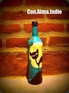 Botellas Pintadas Con.Alma.Indie, $50 en https://ofeliafeliz.com.ar