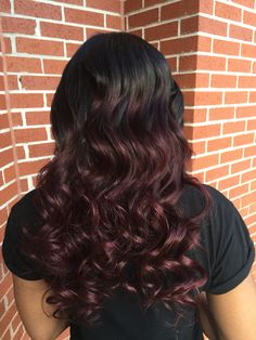 Partial Install with a burgundy ombré