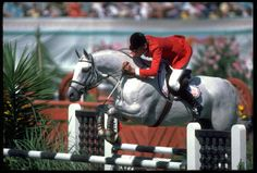 youtube abdullah horse jumping olympic gold | CONRAD HOMFELD OF THE UNITED STATES ON HIS HORSE ABDULLAH DURING THE ...