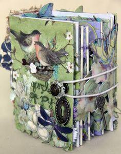 Enchanged Garden hybrid scrapbook by Colette Wibisono, Merchant of Marvels