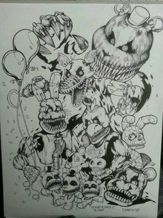 fnaf on fnaf coloring pages and five nights