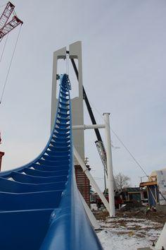 Cedar Point Gatekeeper Construction. new ride!
