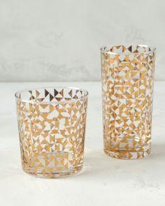 14k Gold Drinking Glasses.