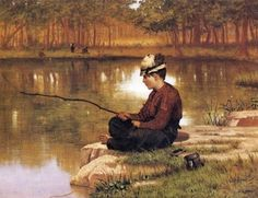 Boy Fishing - John George Brown (American genre painter, 1831-1913)